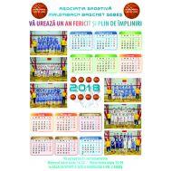 Calendar perete 12 luni 2018 personalizat