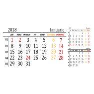 Calendar triptic de birou 2018