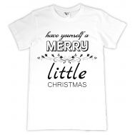 Tricou personalizat Merry Little Christmas