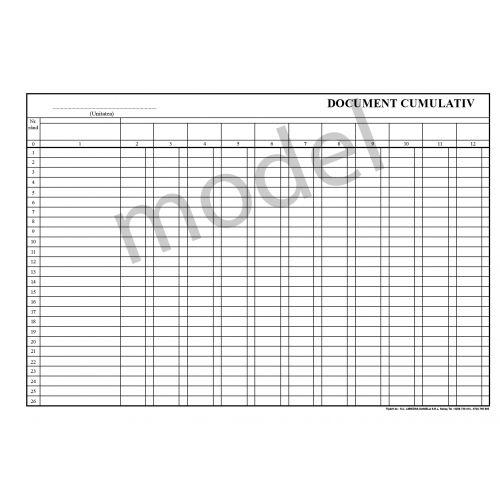 Document cumulativ A4 orizontal/vertical - faţă