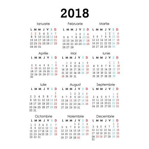 Calendar de buzunar Libraria Daniela 2018