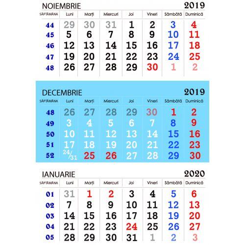 Calendar triptic de perete 2019