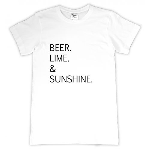 Tricou personalizat Beer, lime and sunshine